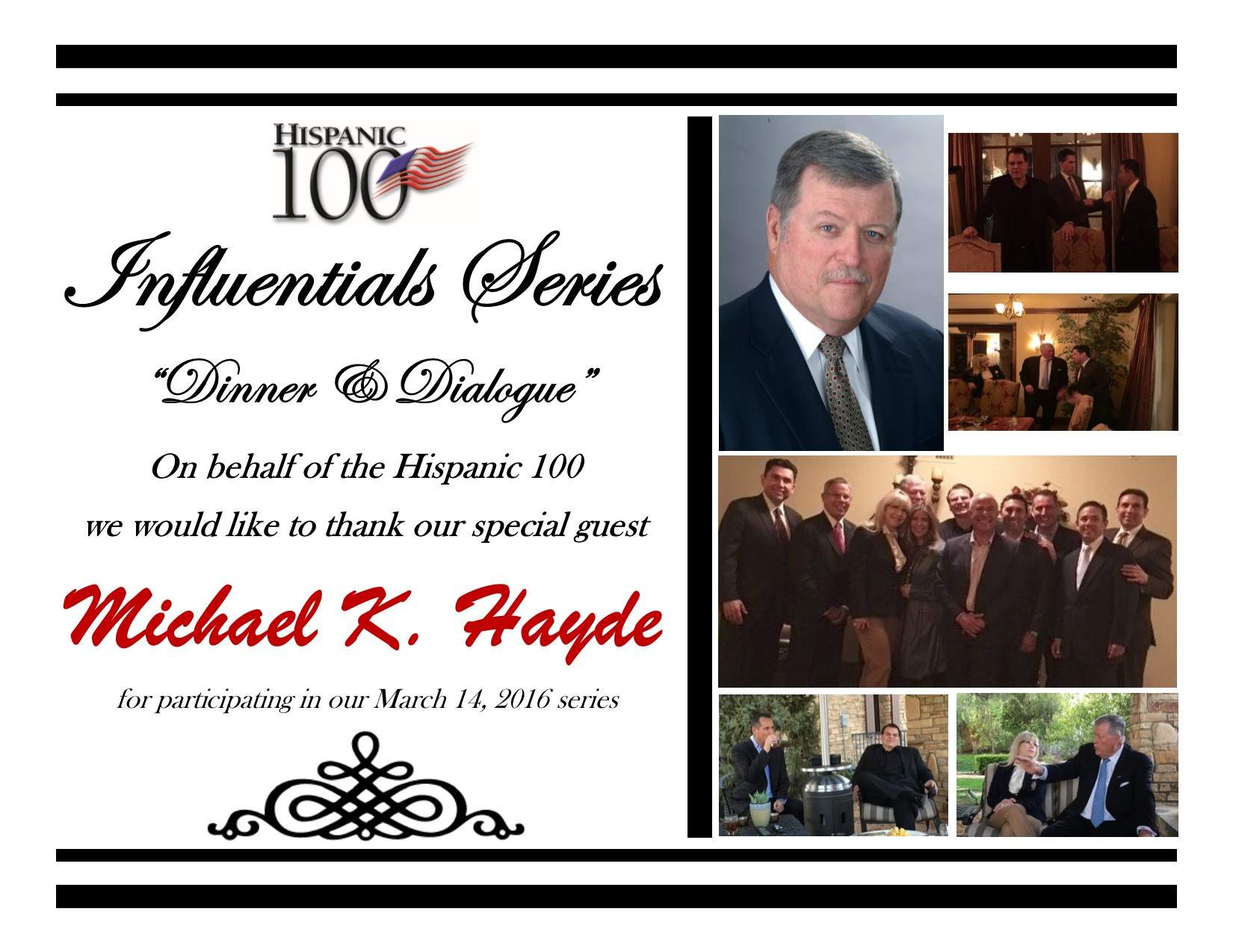 Influentials Series_Mike Hayde_March 14, 2016_Thank you